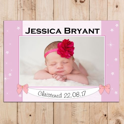 Personalised Girls Christening Baptism Celebration PHOTO Poster Banner N95